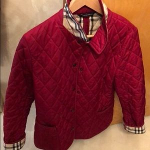 Burberry Red quilted jacket (Sz p)